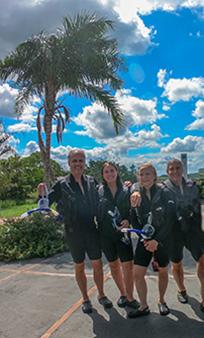 Luxury Experience team after snorkel - Nascente Azul - Boniti, Mato Grosso do Sul, Brazil - photo by Luxury Experience