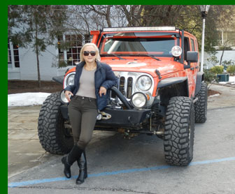 Debra Argen - off road driving - photo by Luxury Experience