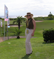 Debra C. Argen at The Mid Ocean Club for the PGA Grand Slam of Golf, Bermuda