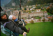 Pietschly and Debra landing near the Victoria-Jungfrau  - photo by Luxury Experience