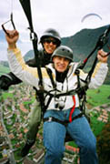 Ed Flying the paraglide  - photo by Luxury Experiencer