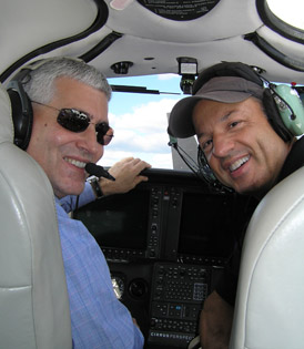 Edward Nesta and Nick Gregory of Performance Flight - Photo by Luxury Experience