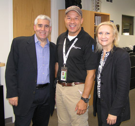 Edward Nesta, Chief Pilot Nick Gregory, Debra Argen at Performance Fligh - Photo by Luxury Experiencet