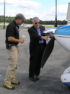 Nick Gregory and Edward Nesta doing Preflight Inspection  - Photo by Luxury Experience