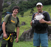 Rappelling in Brazil - Guides Bruno and Fabricio