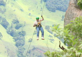 Photo credit Rodolfo Bazzetto - Rappelling in Brazil - Edward F. Nesta