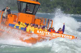 Saule Moutons Lachine Rapids Jet Boat Tours, Montreal, Canada on the Lachine Rapids