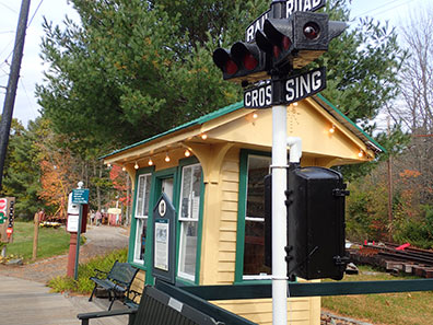 Waiting Shelter - Seashore Trolley Museum, Kennebunkport, Maine - photo by Luxury Experience
