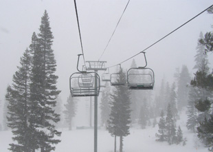 Chair Lift Alpine Meadows, Tahoe City, CA - Photo by Luxury Experience