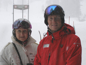 Debra Argen and William Mauney Skiing Alpine Meadows - Tahoe City, California - Photo by Luxury Experience