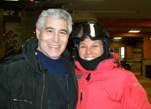 Edward Nesta and Tanya Aghazarian at Alpine Meadows, Tahoe City, CA - Photo by Luxury Experience