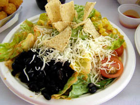 Santa Fe Salad for lunch at Alpine Meadows - Tahoe City, California - Photo by Luxury Experience