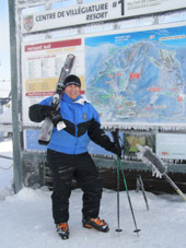 Mont-Tremblant, Canada - Edward F. Nesta at the Summit