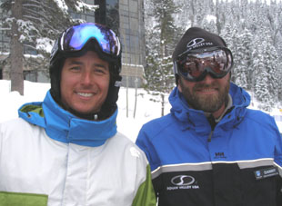 Jonny Moseley and Danny Sullivan at Squaw Valley - Photo by Luxury Experiene