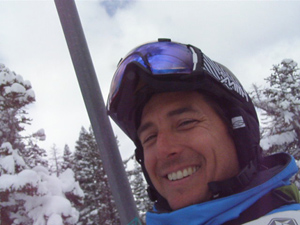 Jonny Moseldy on Chair Lift at Squaw Valley - Photo by Luxury Experiene