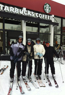 Starbucks Ski-in/Ski-out at Squaw Valley - Photo by Michael Fenton