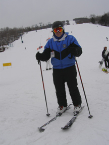Edward hitting the Slopes at Mont-Tremblant, Canada - Photo by Luxury Experience - Smith Optics Ski Helmet and Ski Goggle