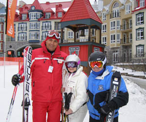 Ski Instructor Sylvain Hotte, Debra, Edward at Mont-Tremblant, Canada - Photo by Luxury Experience - Smith Optics Ski Helmets and Ski Goggles