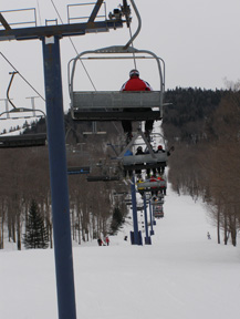View from the Chair Lift at Mont-Tremblant, Canada - Photo by Luxury Experience