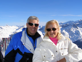 Edward F. Nesta and Debra C. Argen at Corviglia, St. Moritz, Switzerland