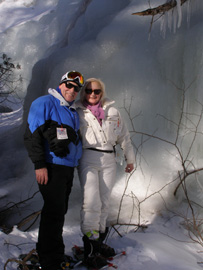 Edward & Debra, wearing Smith Optics Chief and Aura Sunglasses, Snowshoeing in Mont-Tremblant - Photo by Luxury Experience