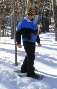 Edward, wearing Smith Optics Chief Sunglasses, Snowshoeing in Mont-Tremblant - Photo by Luxury Experience