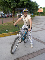 Debra C. Argen on Her Bike