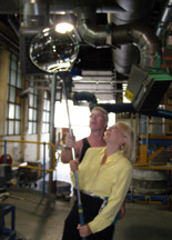 Waterford Crystal - Debra Showing Off Her Crystal Bubble