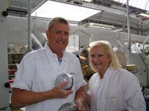 Waterford Crystal - Tom Power and Debra C. Argen with Her Crystal Bowl