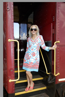 Cape Cod Central Railroad - Debra Argen Boarding Train - Hyannis, MA - photo by Luxury Experience