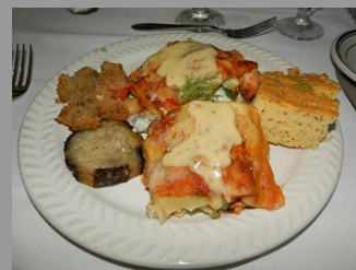 Cape Cod Central Railroad - Vegetable Manicotti - Hyannis, MA - photo by Luxury Experience