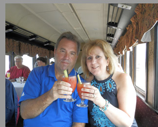 Cape Cod Central Railroad - Peter and Joanne Moskal - Hyannis, MA - photo by Luxury Experience