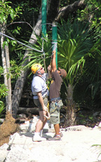 Alltournative Off Track Adventures, Riviera Maya, Mexico - Unclipping from Zip-Line
