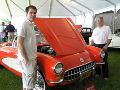 Kenneth Jarosz, Edward Nesta admire 1957 Chevrolet Corvette