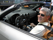 Edward F. Nesta test driving the Audi TT Convertible