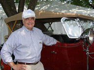 John P. Beveridge and his 1929 Cadillac Dual Cowl Phaeton Model 341-b