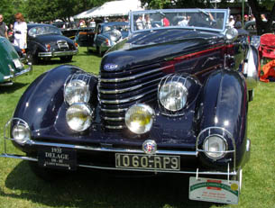 1935 Delage D8-8-85 Roadster  - photo by Luxury Experience