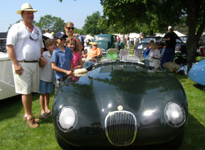 Drake Darrin and Family - 1952 Jaguar C-Type Race Car  = photo by Luxury Experience