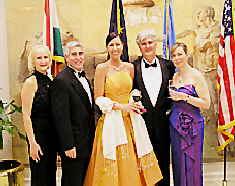Debra, Edward, Erika, Ambassador Dr. Horvath, Mrs. Horvath