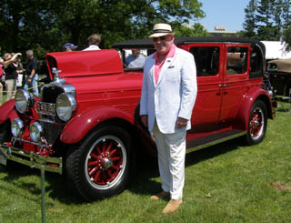 George Scott - 1927 Stutz Vertical Eight Brougham Sedan - photo by Luxury Experience