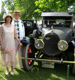 Pat and Frank Wismer - 1921 Brewstere Double Enclosedt - photo by Luxury Experience