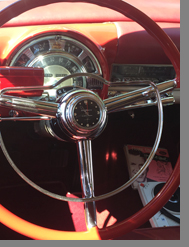 1953 Chysler new Yorker Convertible -Steering Wheel - photo by Luxury Experience