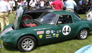 1969 Lotus Elan Drophead Coupe Race Car - Greenwich Concours d'Elegance - photo by Luxury Experience