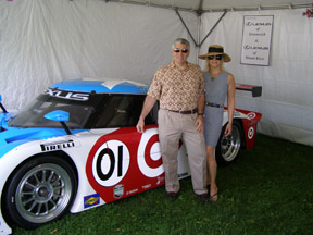Edward and Debra at Greenwich Concours d'Elegance