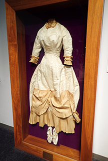 1878 Wedding Gown - National Automobile Museum - Reno, Nevada - photo by Luxury Experience