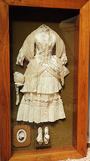 1881 Wedding Gown - National Automobile Museum - Reno, Nevada - photo by Luxury Experience