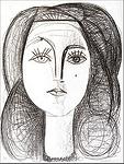 Françoise lithograph by Picasso presented by Hubert Gallery