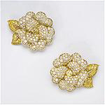 Van Cleef & Arpels, Paris, Gardenia Earrings presented by Hollis Reh & Shariff