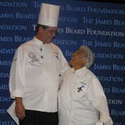 Frank Brigsten and Leah Chase at the James Beard Awards 2006