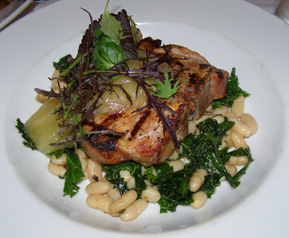 Wood-Grilled Berkshire Portk - Chef Michael Pancheri allium restaurant + bar, Great Barrington, Massachusetts, USA